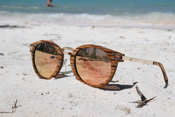 Wooden Sunglasses metal wood smoke