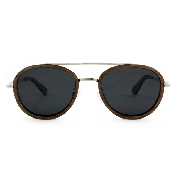 Liberator - Wood+Metal Sunglasses Walnut Wood/Smoke Lens