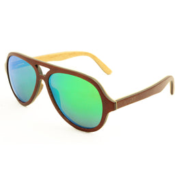 Owen - Brown Maple/Green Wood Sunglasses