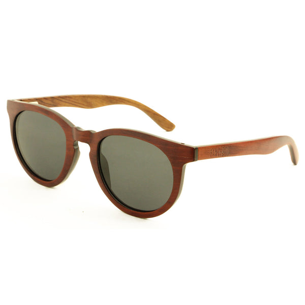 Oliver - Brown Maple/Smoke Wood Sunglasses