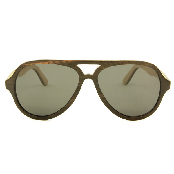Owen - Ebony/Smoke Wood Sunglasses