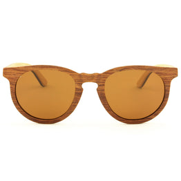 Oliver - Pear/Brown Wood Sunglasses