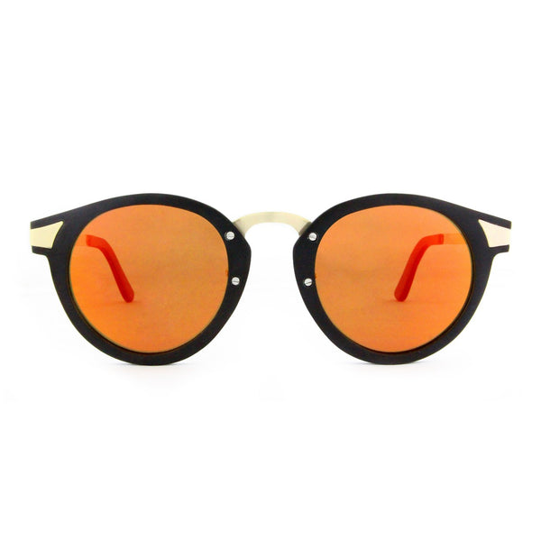 Ottawa - Wood+Metal Sunglasses Ebony Wood/Orange Lens