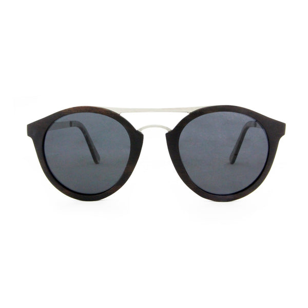 Saona - Wood+Metal Sunglasses Ebony Wood/Smoke Lens