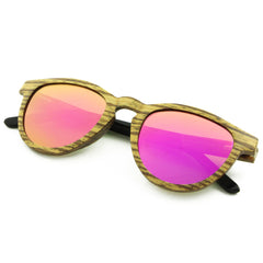 Marquette - Zebrawood/Sunset Wood Sunglasses
