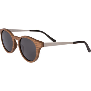 Betsie - Walnut Wood + Metal Sunglasses