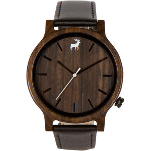 Mission Minimalist Black Sandalwood Wood Watch
