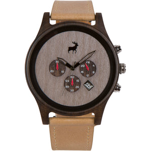 Chrono Minimalist Wood Watch - Light