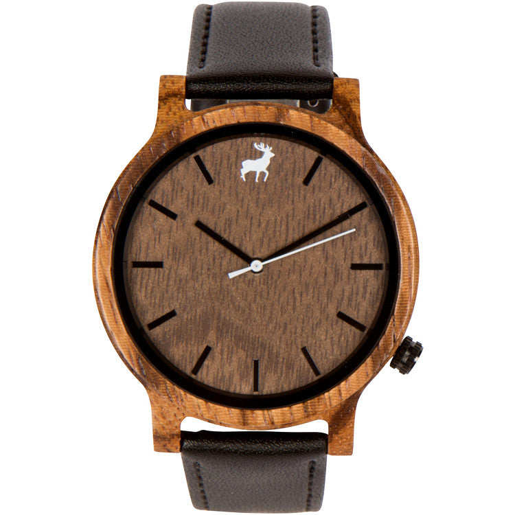 CURRENTLY LIVE ON INDIEGOGO - Mission Minimalist Zebrawood Wood Watch