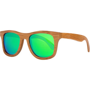 Lakers - Natural/Green Wood Sunglasses
