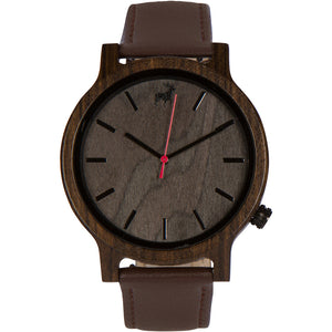 Mission Minimalist Grey Sandalwood Wood Watch