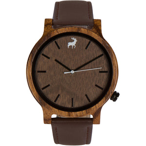 Mission Minimalist Zebrawood Wood Watch