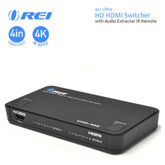 Orei UHD-402 4x2 Port Matrix Ultra 1080p HD Resolutions up to 4K/2K HDMI Switcher and Splitter