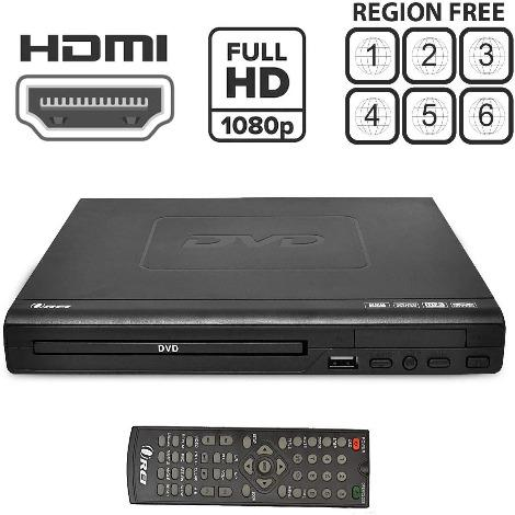 Region Free HDMI DVD Player by OREI - Multi Zone 1, 2, 3, 4, 5, 6 Supports 1080P - Compact Video Player - USB Input - Built-in PAL/NTSC - Remote Control - Worldwide Voltage (DVD-Z9H)