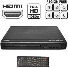OREI Region Free HDMI DVD Player - Multi Zone (0-6) Supports 1080P - Compact - USB Input - Built-in PAL/NTSC (DVD-Z9H)