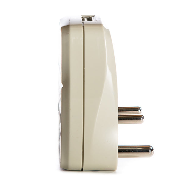 Pakistan Travel Adapter Plug with USB and Surge Protection - Grounded Type D