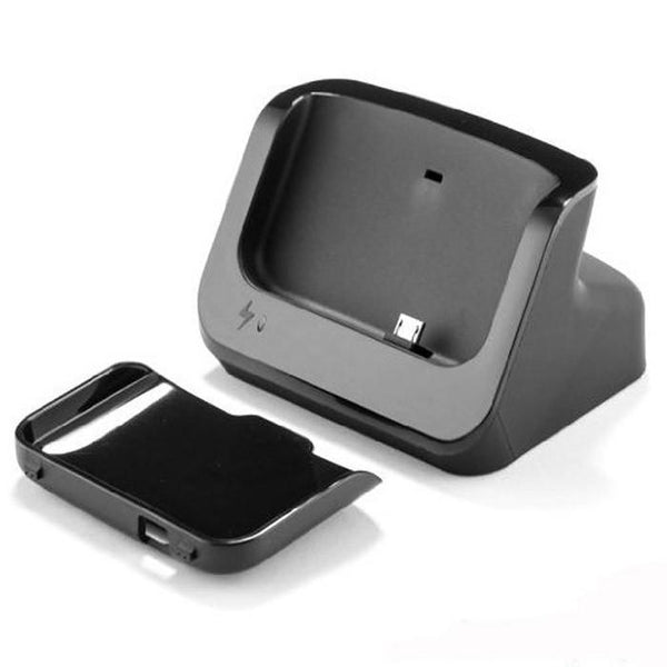 Orei HTCONE Unicharge Charging Dock Cradle for HTC One M7 with USB Cable, Detachable Case Plate - Black