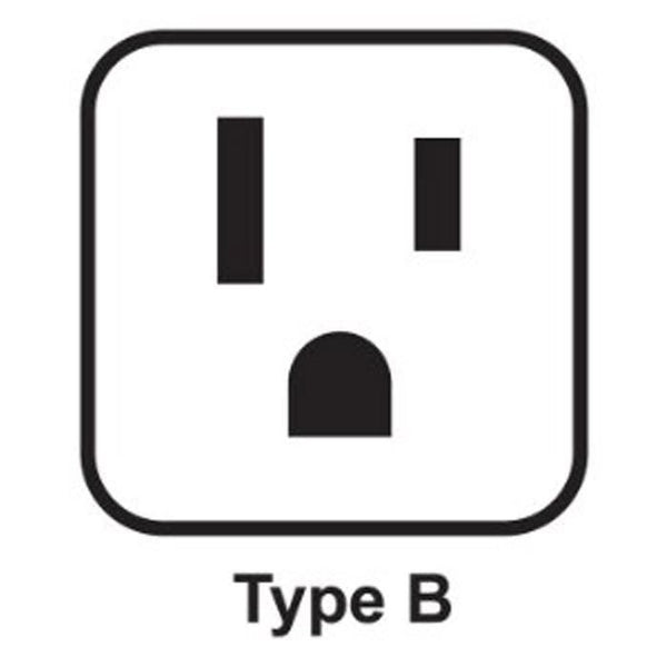 USA plug type B socket example