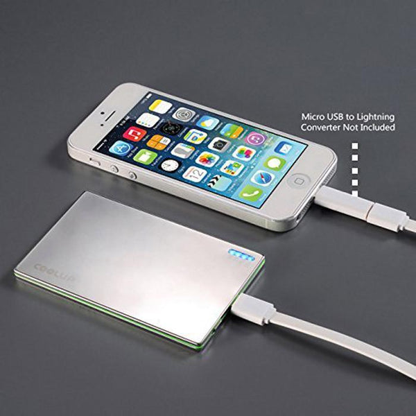 OREI Super Ultra Slim Elegant Brushed Aluminum External Battery for Cell Phones - Unicharge Technology and iPhone
