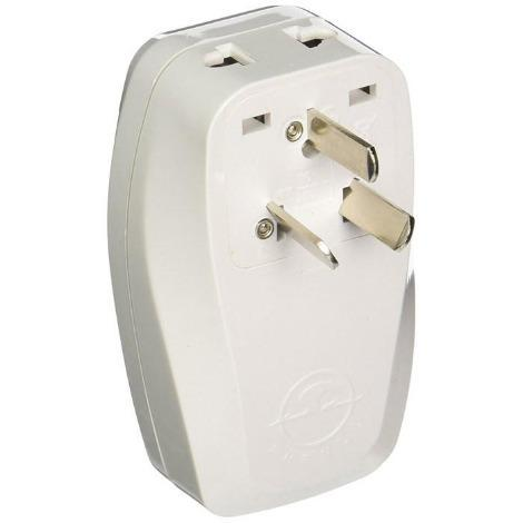 Orei 3 in 1 Australia Travel Adapter Plug with USB and Surge Protection-Grounded Type I - Retail Packaging - Ivory