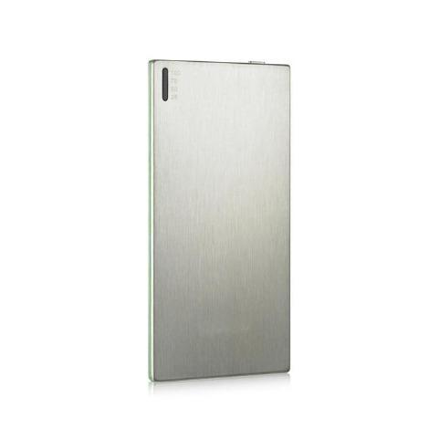Orei Ultra Slim 3500 mAh 3/8-Inch External Battery Pack Brushed Aluminum with UniCharge Technology - Retail Packaging - Silver