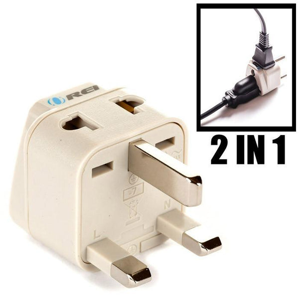 OREI European Plug Adapter Set Works in Albania, Austria, Belgium, Denmark, Finland, Greece, Hungary, Iceland, Netherlands, Norway, Poland, Portugal, Romania, Spain, Sweden, Turkey