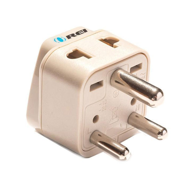 OREI Grounded Universal 2 in 1 Plug Adapter Type D for India, Africa & more - CE Certified - RoHS Compliant WP-D-GN