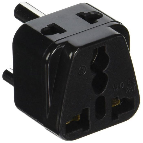 Black Orei 2 in 1 USA to India travel adapter plug - input