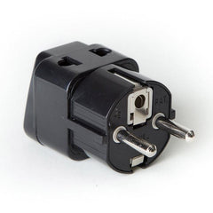 OREI 2 in 1 USA to Europe Adapter Plug (Schuko, Type E/F) - 4 Pack, Black