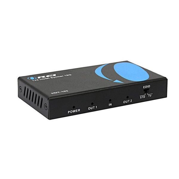 Orei 1x2 2.0 HDMI Splitter 2 Ports with Full Ultra HDCP 2.2, 4K at 60Hz & 3D Supports EDID Control - HDY-102
