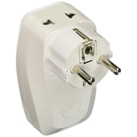 OREI 3 in 1 Schuko Travel Adapter Plug with USB and Surge Protection - Grounded Type E/F - Germany, France & More