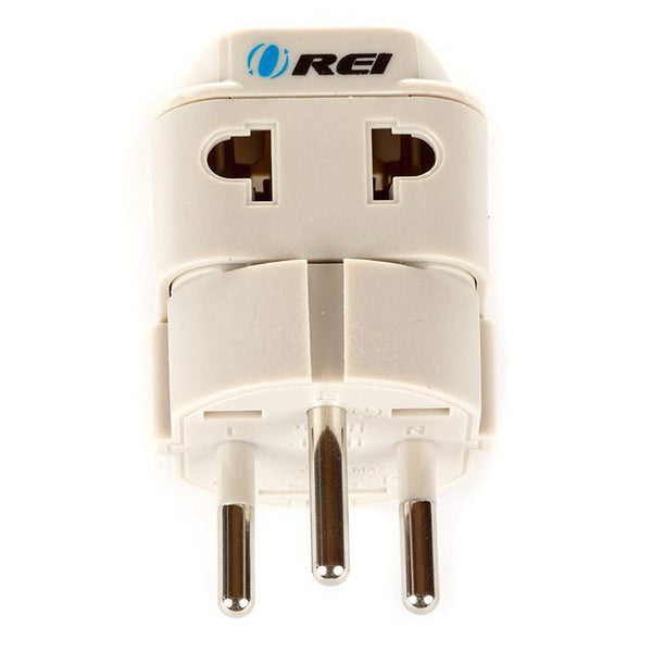 OREI Grounded Universal 2 in 1 Plug Adapter Type H for Israel & more - High Quality - CE Certified - RoHS Compliant WP-H-GN