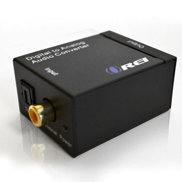 OREI DA9 Digital Optical Coax Coaxial Toslink to Analog RCA L/R Audio Converter