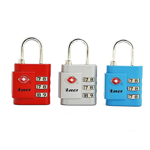 OREI TSA Approved Luggage Locks Set - Combination Travel Lock Quality (3 Pack)