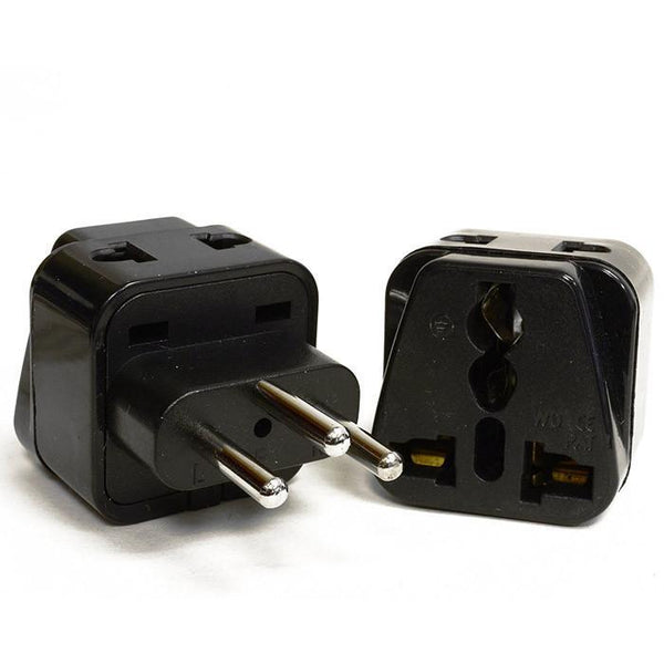 OREI 2 in 1 USA to Switzerland Travel Adapter Plug (Type J) - 2 Pack, Black