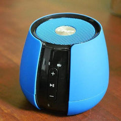OREI Rechargeable Compact Bluetooth 4.0 Wireless Speaker, Powerful Sound, With Built in Mic, Dust-proof Speaker - Blue