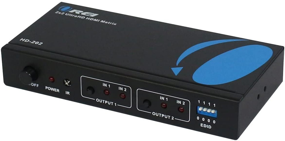 OREI 2x2 HDMI Matrix Switch