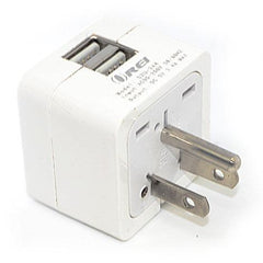 Orei 2 USB (3.4A/17W) Travel Charger for all iPhone, iPad, Samsung Galaxy, Android, HTC One, Motorola, LG (W2U-B)