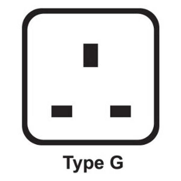 Travel plug adapter example - type G