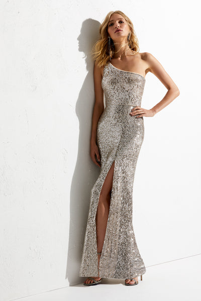 Elle Sequin Mink Gown - Head Turning Glamour!