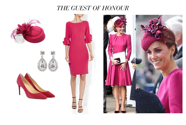 Montique Royal Wedding Inspiration Phoebe Fuschia. Image: Getty Images