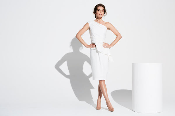 Our Harlow White Dress is corporate yet playful.