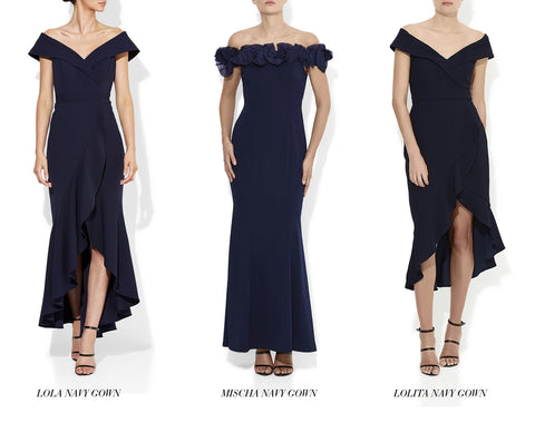 Mischa, Lola and Lolita Navy Bridesmaid Dresses Montique