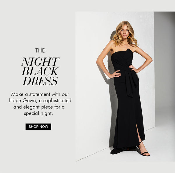 Our stunning Hope Strapless Gown, the perfect Black Dress by Montique!
