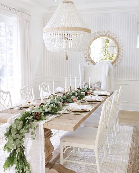 A beautiful tablescape at home