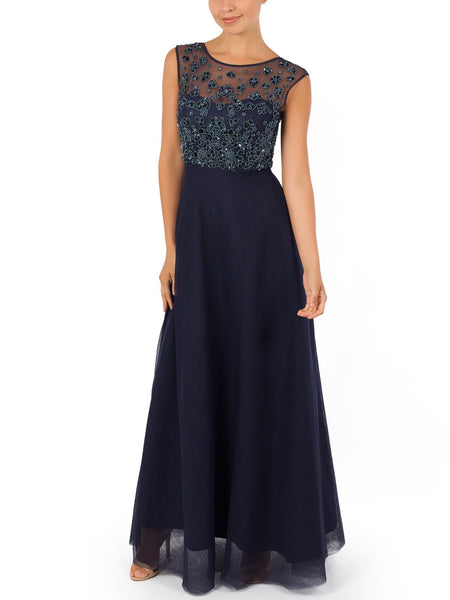 Delfina Hand Beaded Gown