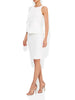 Milano Ivory Ruffle Shift Dress