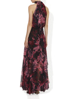 Autumn Printed Chiffon Gown