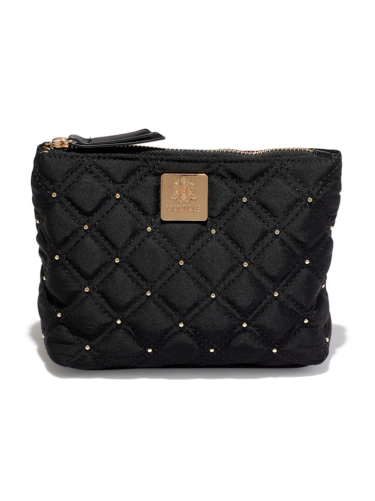 Gold Studded Signature Cosmetic Bag