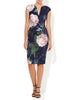 Paige Navy Floral Scuba Dress